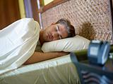young adult man sleeping