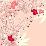 Floral background with stylized flowers