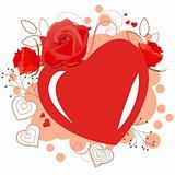 Rd heart-shaped frame