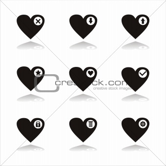black hearts icons