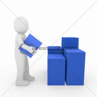 3d human letter mailbox