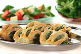 Puff pastry with spinach and cheese filling
