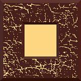 Brown vector grunge frame