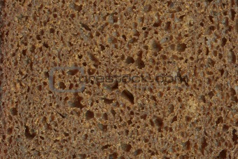 Close up of wholemeal bread texture