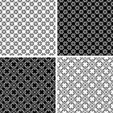 Seamless floral patterns set.