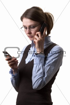 Woman on call