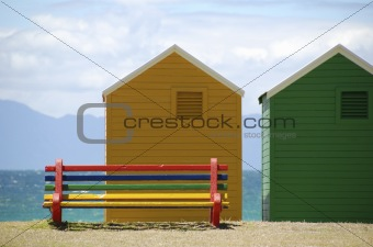 changing rooms at the beach