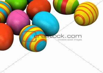 3d Colored Easter Eggs