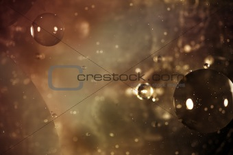 Oil on water outer space design background
