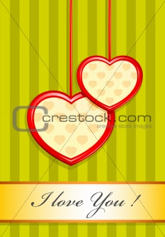valentine as two hearts