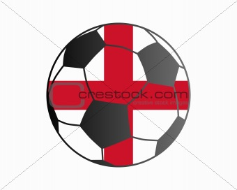 Flag of England and soccer ball