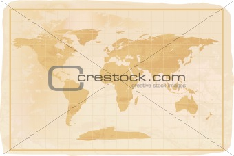 old style antique world map