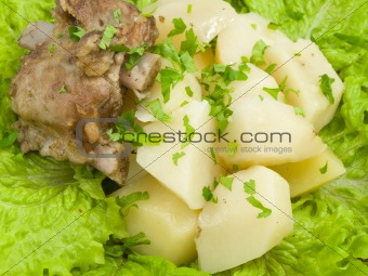 potatoes on sheet of the salad