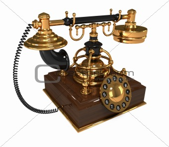 3d Retro Telephone