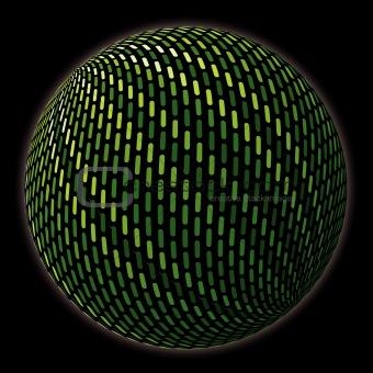 Green abstract globe. Vector illustration.