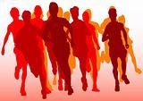 Red running mans