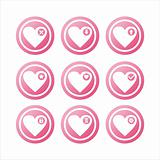 pink hearts signs