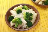 Tortiglione with broccoli