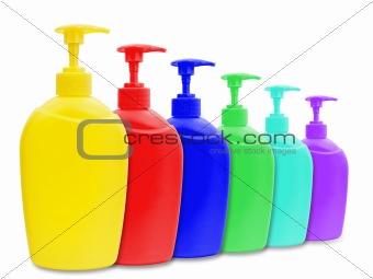 liquid soap bottles