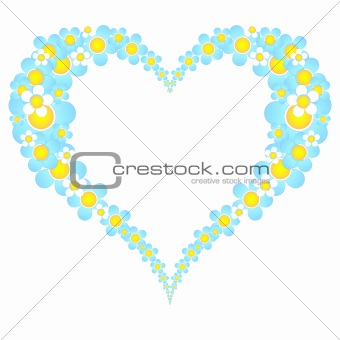 valentine floral heart frame