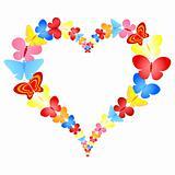valentine butterflies heart frame