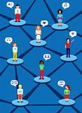 Social network concept