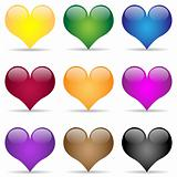 Heart-Icon set