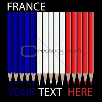 france pencils