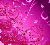 pink flower decoratively romantically abstraction illustration