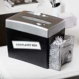 complaint box shredder