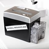 payroll requests box shredder