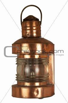 Old brassy lantern