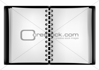black notepad