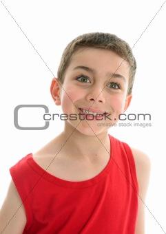 Beautiful smiling boy child