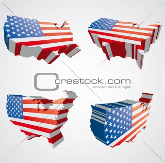 Four USA 3d views