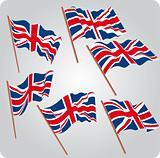 Six UK flags
