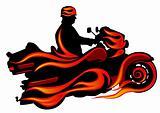Moto on fire