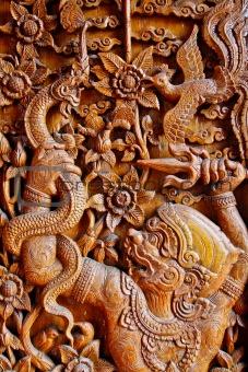 Mokey tale wooden