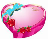 Gift heart of Valentine's Day