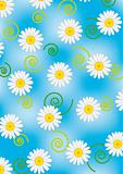 Daisy on blue vector background