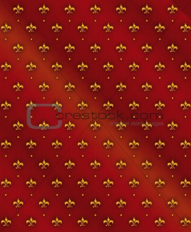 Fleur-de-lis royal lily vector background