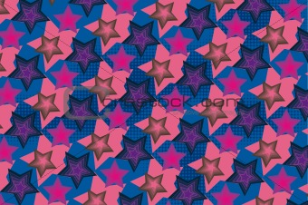 Abstract star vector background