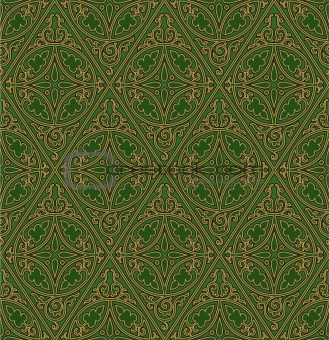 Abstract medieval vector pattern