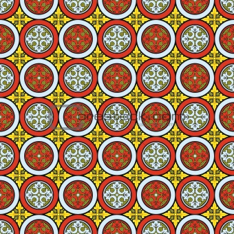 Abstract medieval cross vector pattern