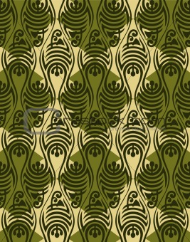 Abstract seamless medieval oriental vector pattern