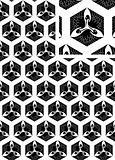 Japan crane vector pattern