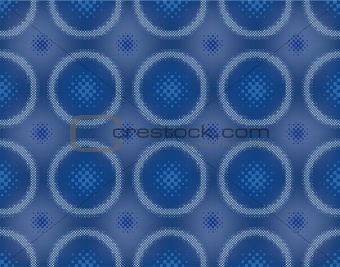 Abstract halftone circle seamless vector background