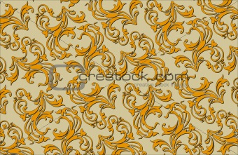 Old style floral ornate vector background