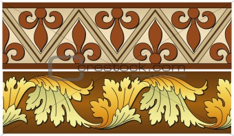 Abstract vector seamless old-styled ornate border