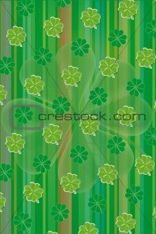 Green clover leaf vector background